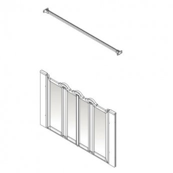 AKW Option N 900 Shower Screen 1600mm Wide - Non Handed