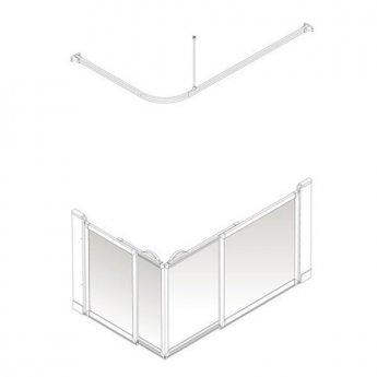 AKW Option SE Sliding Shower Screen, 1200-1300mm x 700-820mm, Right Handed