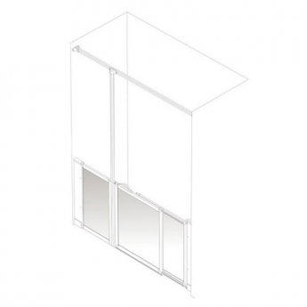 AKW Option SJ Sliding Shower Screen, 1400-1500mm Wide, Left Handed