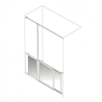 AKW Option SJ 750 Shower Screen 1800mm x 750mm - Left Handed
