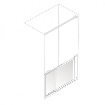 AKW Option SM Sliding Shower Screen, 900-1000mm Wide, Right Handed