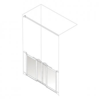 AKW Option SN Sliding Shower Screen 1200-1300mm Wide x 750mm High