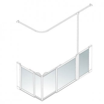 AKW Option SX Sliding Shower Screen, 1700-1800mm x 700-820mm, Right Handed