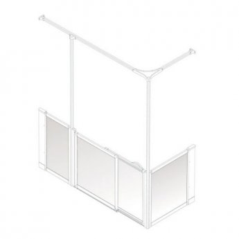 AKW Option SY Sliding Shower Screen, 1200-1300mm x 820mm, Left Handed