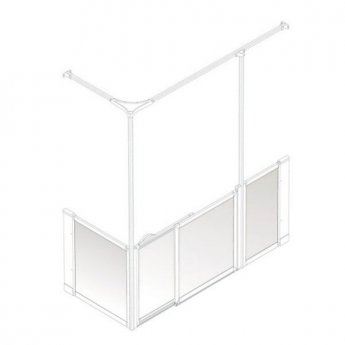 AKW Option SY Sliding Shower Screen, 1200-1300mm x 700mm, Right Handed