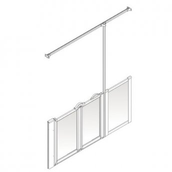 AKW Option Z 750 Shower Screen, 1800mm Wide, Right Handed