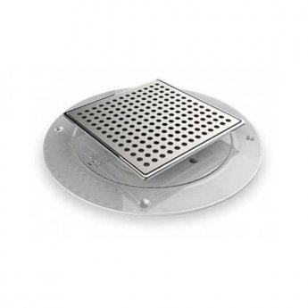 AKW Stainless Steel SFWA Waste Adaptor For Tiles without trapped waste