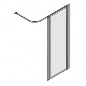 AKW Silverdale Frosted Option HF Shower Screen, 700mm Wide, Non-Handed