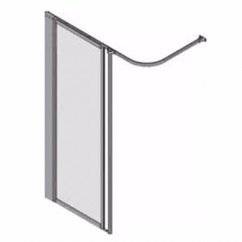 AKW Silverdale Frosted Option HFW Wet Floor Shower Screen, 800mm Wide, Non-Handed