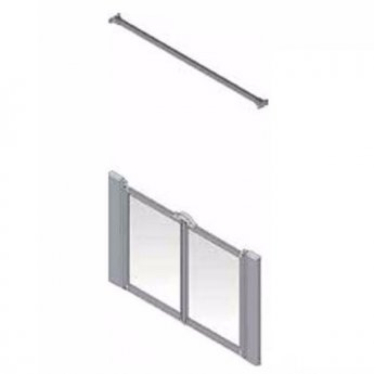 AKW Silverdale Frosted Option M 900 Shower Screen, 800mm Wide, Non-Handed