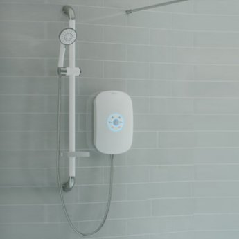 AKW Smartcare Plus White Electric Shower with Kit and M11 Pump + PW50 Waste - 8.5kw