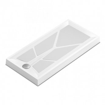 AKW Sulby 2 Rectangular Shower Tray with Gravity Waste 1000mm x 700mm