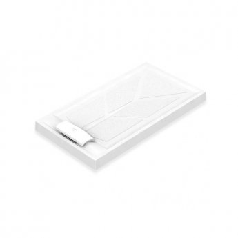 AKW Sulby Rectangular Shower Tray with Waste 1300mm x 700mm x 90mm, Non-Handed