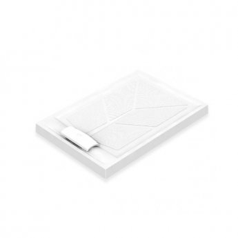 AKW Sulby Rectangular Shower Tray with Waste 1200mm x 820mm, Non-Handed