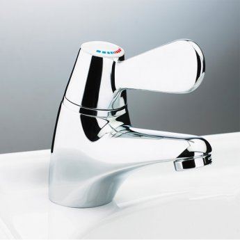 AKW TMV3 Thermostatic Basin Mixer Tap, Single Handle, Chrome