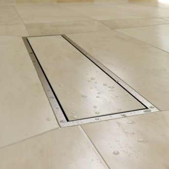 AKW TriForm Square Wet Room Former Drain and Waste - 900mm x 900mm