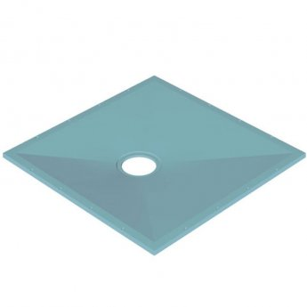 AKW Tuff Form Square Wet Room Former with GW50 Waste and Vinyl Adaptor 900mm x 900mm