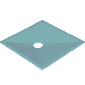 AKW Tuff Form Square Wet Room Former with TF75 Gravity Waste for Vinyl 1000mm x 1000mm