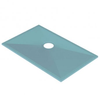 AKW Tuff Form Rectangular Wet Room Former with TF75 Gravity Waste for Vinyl 1300mm x 820mm