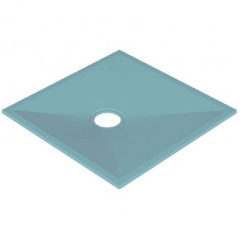 AKW Tuff Form Square Wet Room Former with GW50 Waste and Vinyl Adaptor 1200mm x 1200mm