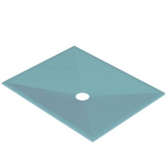 AKW Tuff Form Rectangular Wet Room Former with TF75 Gravity Waste for Vinyl 1500mm x 1200mm