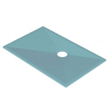 AKW Tuff Form Rectangular Wet Room Former with GW50 Vinyl Waste and Adaptor 1400mm x 900mm