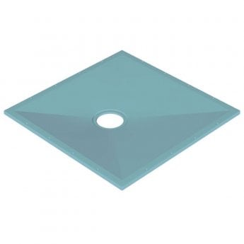 AKW Tuff Form Square Wet Room Former 1000mm x 1000mm with GW90 Low Depth Gravity Waste and Adaptor