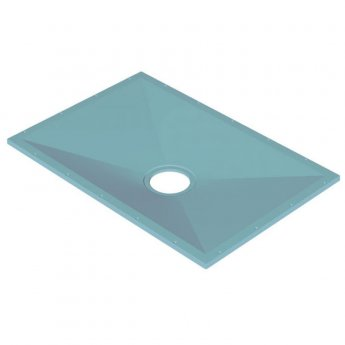 AKW Tuff Form Rectangular Wet Room Former 1135mm x 770mm with GW90 Low Depth Gravity Waste and Adaptor