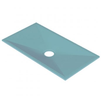 AKW Tuff Form Rectangular Wet Room Former 1500mm x 820mm with GW90 Low Depth Gravity Waste and Adaptor