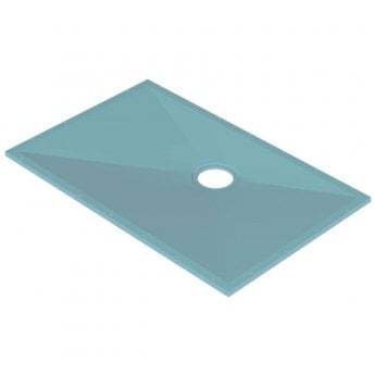 AKW Tuff Form Rectangular Wet Room Former 1400mm x 900mm with GW90 Low Depth Gravity Waste and Adaptor