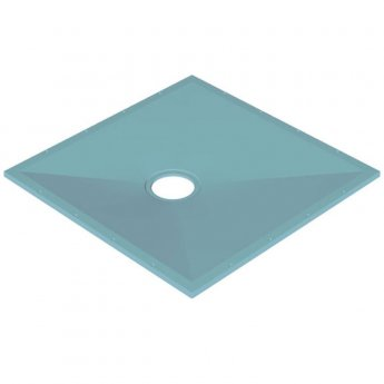 AKW Tuff Form Square Wet Room Former 1200mm x 1200mm with GW90 Low Depth Gravity Waste and Adaptor