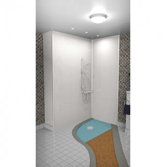 AKW Tuff Form8 Rectangular Wet Room Former with Rotatable Waste Position - 1300x820mm