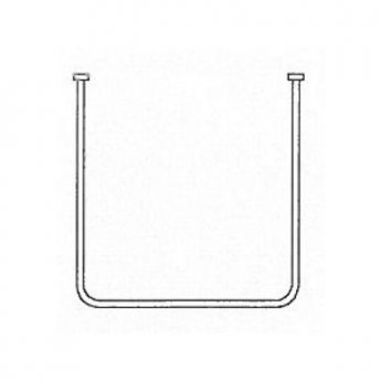 AKW U-Shaped Shower Curtain Rail 750mm x 1390mm x 750mm