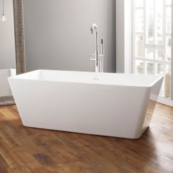 April Boston Contemporary Freestanding Bath 1700mm x 750mm Acrylic