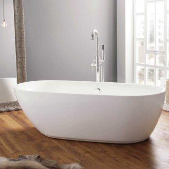 April Cayton Modern Freestanding Bath 1500mm x 700mm - Acrylic