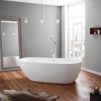 April Cayton Modern Freestanding Bath 1790mm x 830mm - Acrylic