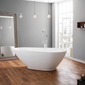April Danby Modern Freestanding Bath 1730mm x 825/600mm - Acrylic