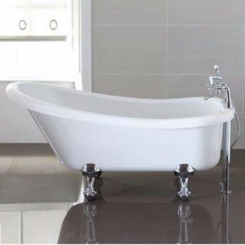 April Eldwick Traditional Freestanding Roll Top Slipper Bath 1500mm x 750mm - Acrylic