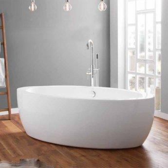 April Halton Modern Freestanding Bath 1850mm x 910mm - Acrylic