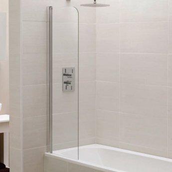 April Identiti2 Mini Bath Screen 1400mm High x 300mm Wide 6mm Glass