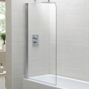 April Identiti2 Single Standard Bath Screen 1400mm High x 800mm Wide 6mm Glass