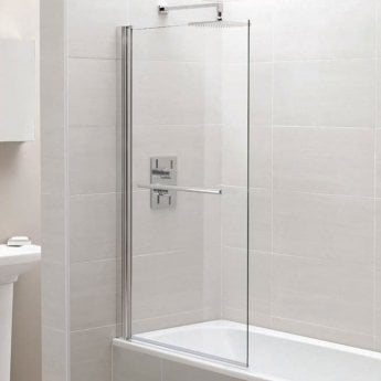 April Identiti2 Square Bath Screen 1400mm H x 800mm W - 6mm Glass