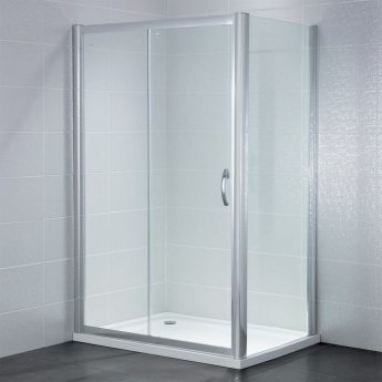 April Identiti2 Sliding Shower Door 1600mm Wide - 8mm Glass