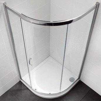 April Identiti2 Single Quadrant Shower Enclosure 1000mm x 1000mm - 8mm Glass