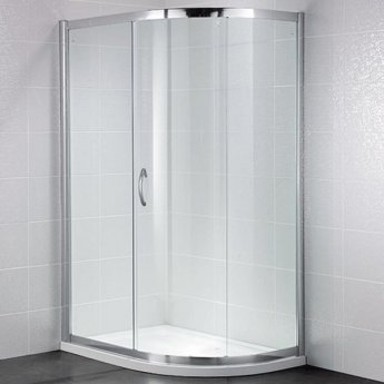 April Identiti2 Single Offset Quadrant Shower Enclosure 1200mm x 800mm - 8mm Glass
