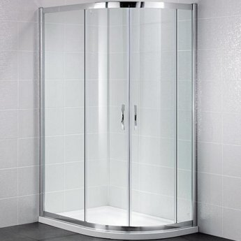 April Identiti2 Offset Quadrant Shower Enclosure 1200mm x 800mm - 8mm Glass
