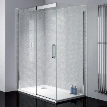 April Prestige2 Sliding Shower Door 1400mm Wide Left Handed - 8mm Glass