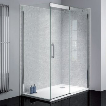 Verona Prestige2 Sliding Shower Door 1400mm Wide Right Handed - 8mm Glass