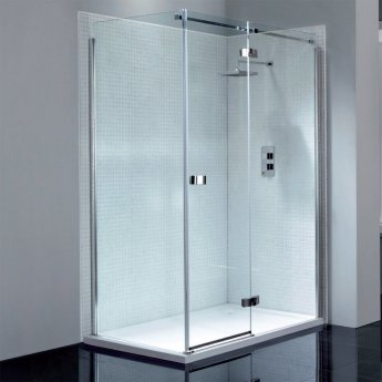 April Prestige2 Frameless Hinged Shower Door 1000mm Wide Right Handed - 8mm Glass