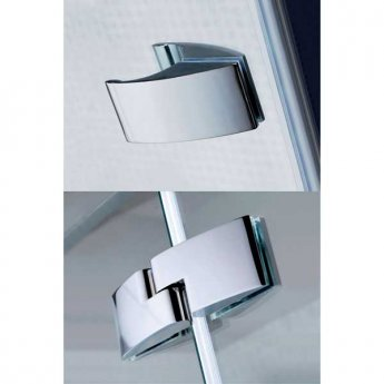April Prestige2 Offset Quadrant Shower Enclosure 1000mm x 800mm Left Handed - 8mm Glass